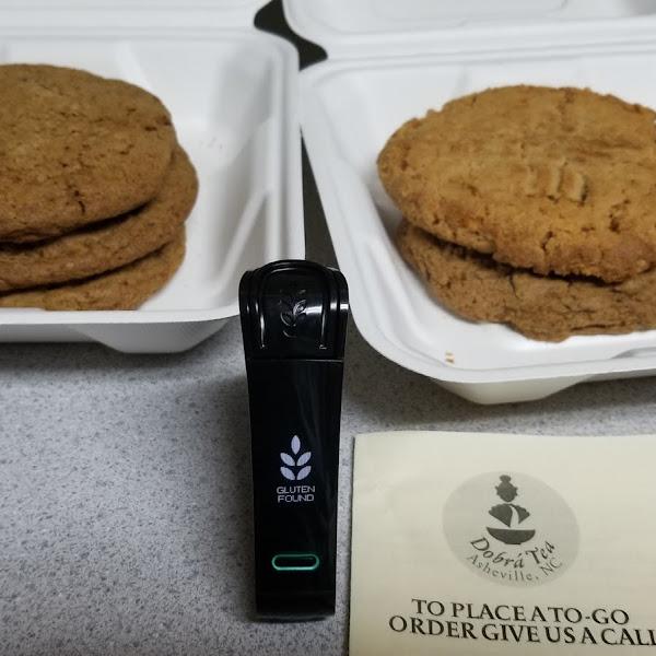 Chai choc chip cookies, PB cookies