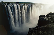The magnificent Victoria Falls in Zimbabwe.