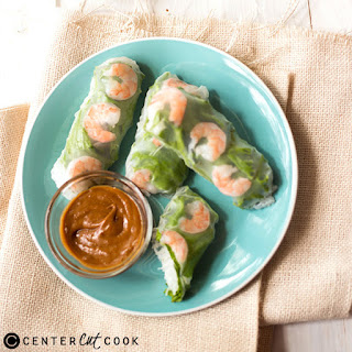 Shrimp Spring Rolls With Peanut Sauce