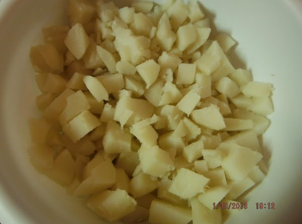 Boil potatoes for 30 minutes and boil eggs set both fridge for an hour...
