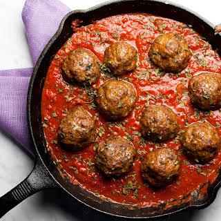 Baked Italian Meatballs.