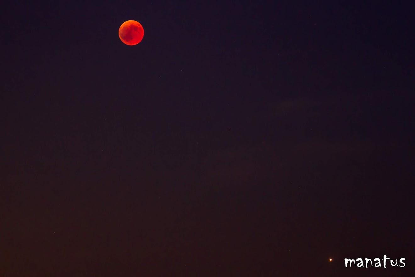 luna de sangre y marte