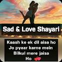 Sad & Love Shayari, Status & Quotes -Hindi Shayari icon