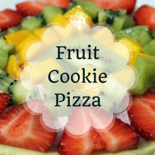 Fruit Cookie Pizza.
