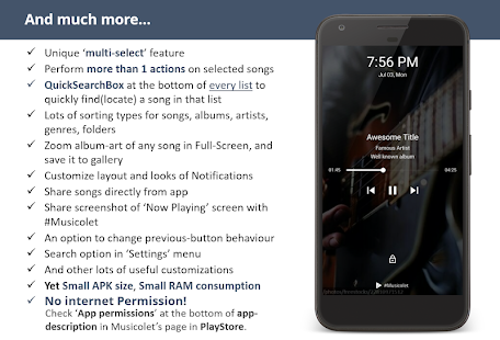 Musicolet Music Player [Free, No ads] Screenshot