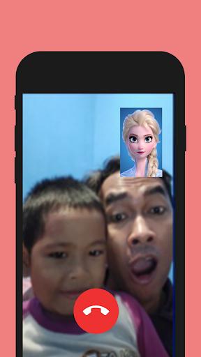 📱 Ice Queen Rainbow call you : Callprank screenshot 1