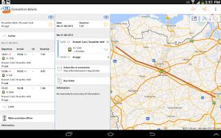Screenshot of SNCB/NMBS