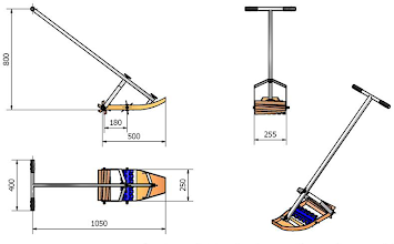 Photo: Schematic of SRI Rotary Weeder with dimensions and other specifications (from ECHO Asia Notes Issue 21)