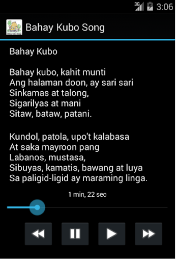Philippines Bahay Kubo Song
