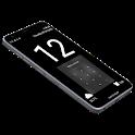 Huge Lock Screen Clock icon