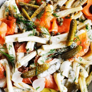 Smoked Salmon and Cornichon Pasta Salad Recipe