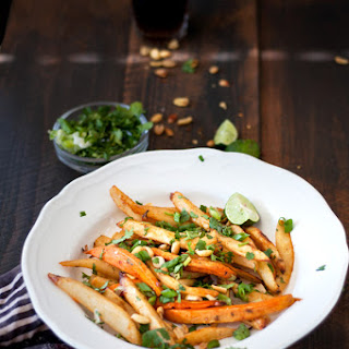 Pad Thai Inspired Baked French Fries.