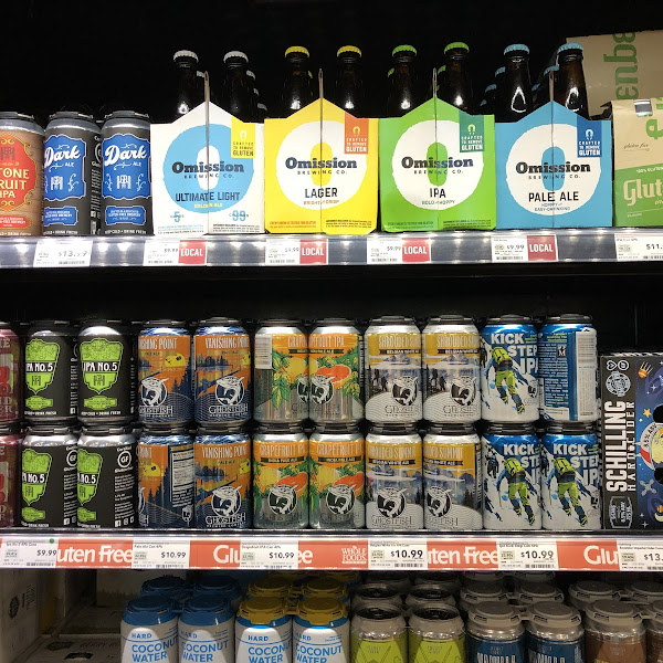 Great gluten free beer selection