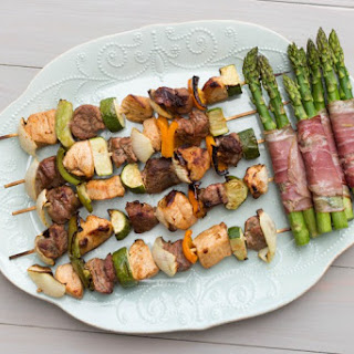 Chicken and Beef Kabobs.