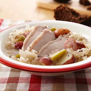 Harvest Pork with Apples and Sauerkraut