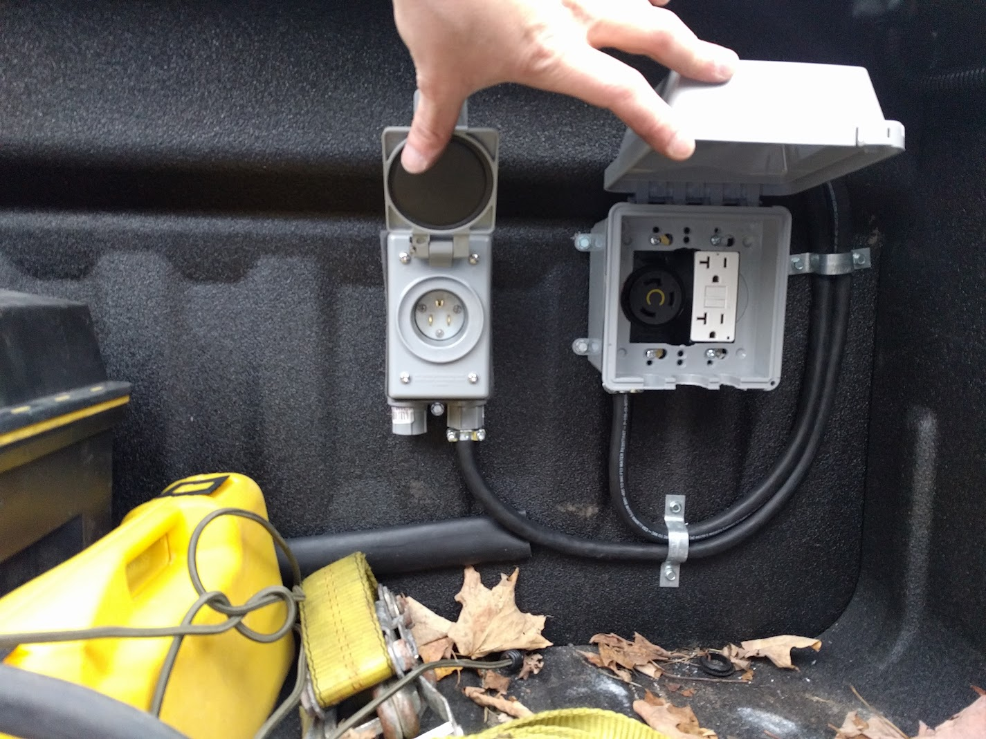 2017 Silverado Hd Large Inverter 3kw Install Chevy And Gmc Pickup Truck Suburban Undercover Battery Kill Switch Wiring Ebay Update The Looks A Lot Cleaner With These Maxliner Floor Mats Covering Cables Routed Under Back Seat