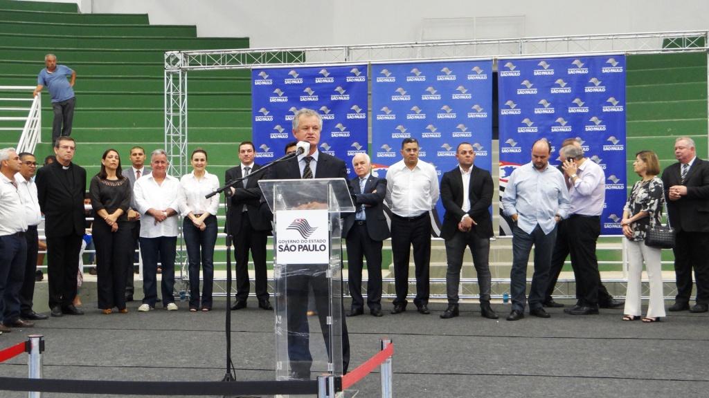Reinauguração do Ginásio Antonio Baldusco de Itapecerica da Serra.