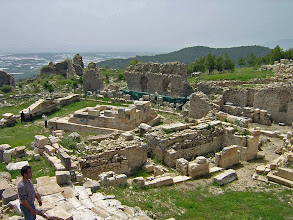 Photo: Rhodiapolis, Monument of Opramoas as seen from the Theater .......... Het Monument van Opramoas gezien vanuit het theater
