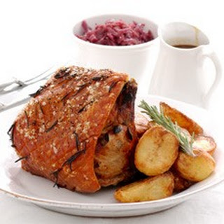 Roast Loin of Pork with Herbs and Spiced Apricots Recipe