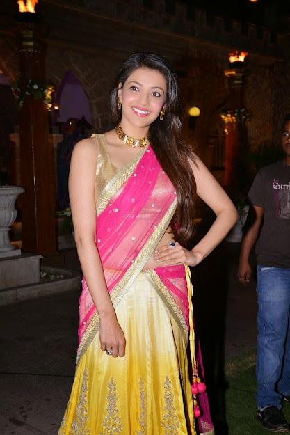 Kajal Agarwal in sleeveless blouse