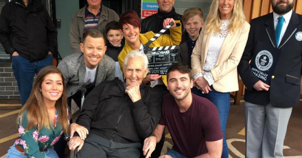 Hollyoaks film with 107-year-old Jack Reynolds for world record attempt