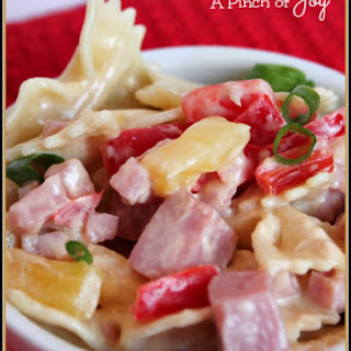 Aloha Pineapple and Ham Pasta Salad.