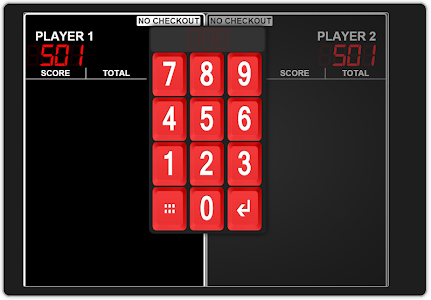 Big Bulls Darts Scoreboard screenshot 1