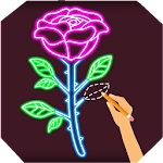 Draw Glow Flower Icon