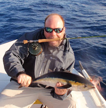 Photo: Andy Jensen with a rare Yellowfin- he was delicious