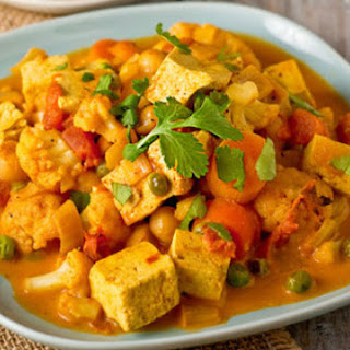 Cauliflower Tofu Curry Recipe