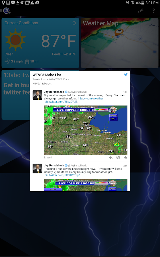 13abc Weather Radar- screenshot