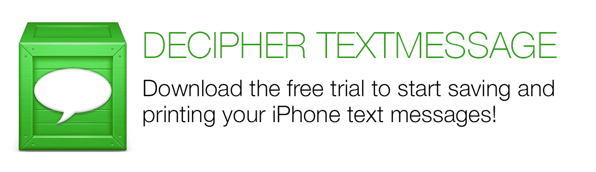 Save and print iPhone text messages