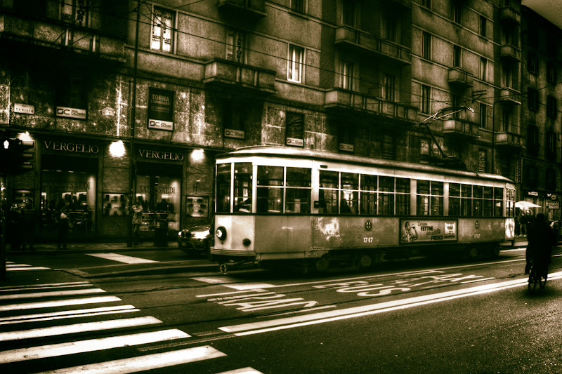 Tram a Milano di Claudio Bottini