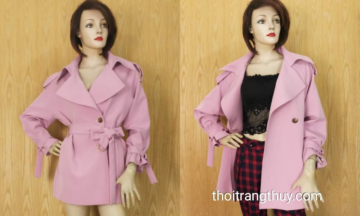 Áo khoác nữ dáng dài ngang đùi Free Size V645 Thời Trang Thủy