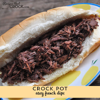 Easy Crock Pot Beef French Dips.