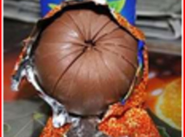 This is a picture of the chocolate orange candy that Bea is referring to.