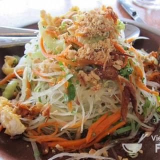 Ingredients of Vietnamese Grilled Beef Salad (Gỏi Bò)