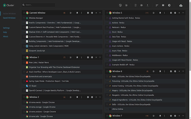 Cluster - Window & Tab Manager