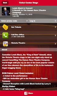 Ticket Center Stage - náhled