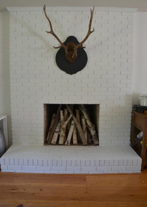 Beautiful Painted Fireplace