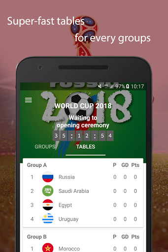 World Cup 2018 Live Scores & Fixtures 2.0.1 screenshots 3