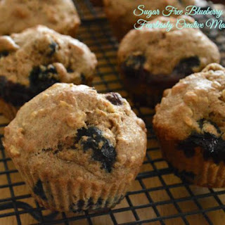 Sugar Free Blueberry Muffins.