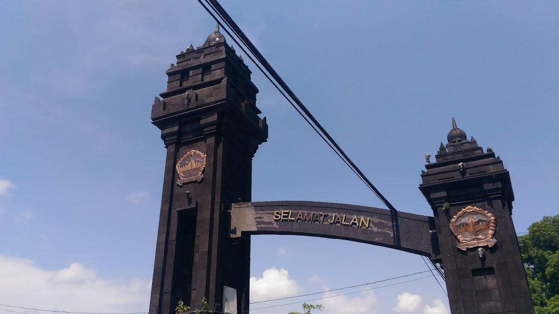 arch before prambanan temple