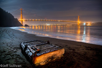 Photo: Moonlit Beach by the Golden Gate, October 22, 2011.