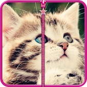 Cat Zip Screen Lock
