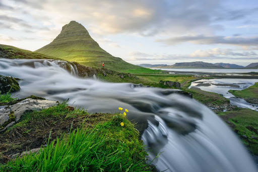 Iceland-Kirkjufellsfoss.jpg - The Kirkjufellsfoss waterfall on the Snaefellsnes peninsula of Iceland.