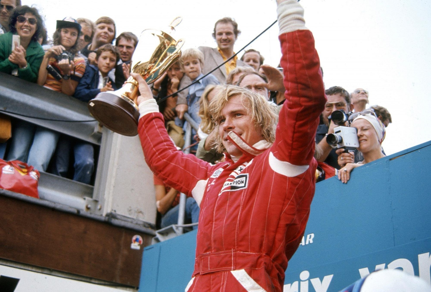 James Hunt, Freddie's father, won the F1 World Championship in 1976 for McLaren. Source: James Hunt Foundation