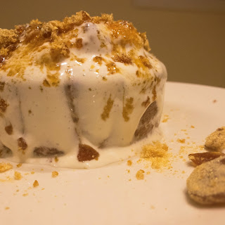 Tres Leches Cake With Caramel Crunch.