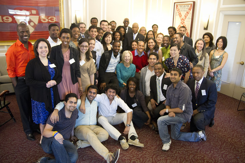 Photo: On Thursday, March 22nd, President Gutmann joined members of the Cipatli, Oracle and Onyx Student Societies for an informal reception in the Sweeten Alumni House. The students had the opportunity to mingle with faculty, staff and alumni to honor the occasion of their upcoming graduation from Penn.