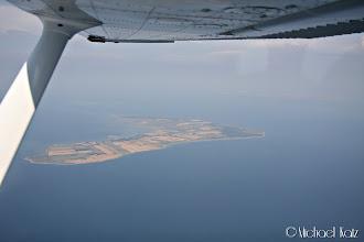 Photo: Det er en ganske disig dag. Her passerer vi øya Endelave.